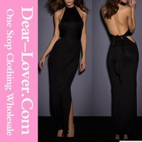 High quality hot Halter Neck Backless Jersey tube sex women party dress