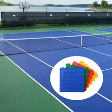 China wholesale pp plastic interlocking tennis court surface flooring materials cost