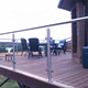 Modern Balcony Stainless Steel Railing Design / Exterior Deck Railings System For Sale
