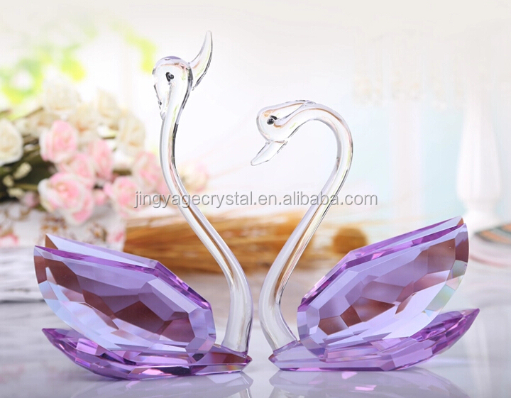 crystal swans wedding anniversary souvenirs