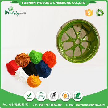 Green products RAL smooth surface epoxy polyester powder coating