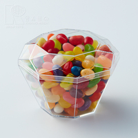 Kwang Hsieh Clear Diamond Shaped Plastic Candy Container