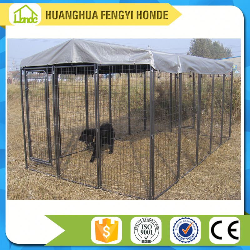 Popular In Australia Quality Solid Space Powder Coated Dog Kennel Wholesale