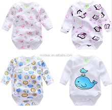 wholesale 100% cotton kids clothes 100% organic cotton long sleeve baby romper