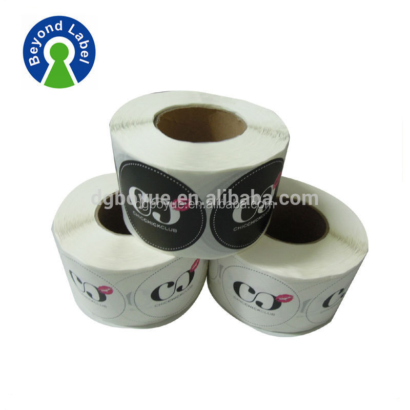 Transparent vinyl adhesive sticker labels for cosmetic packaging,customer print adhesive qc pass label