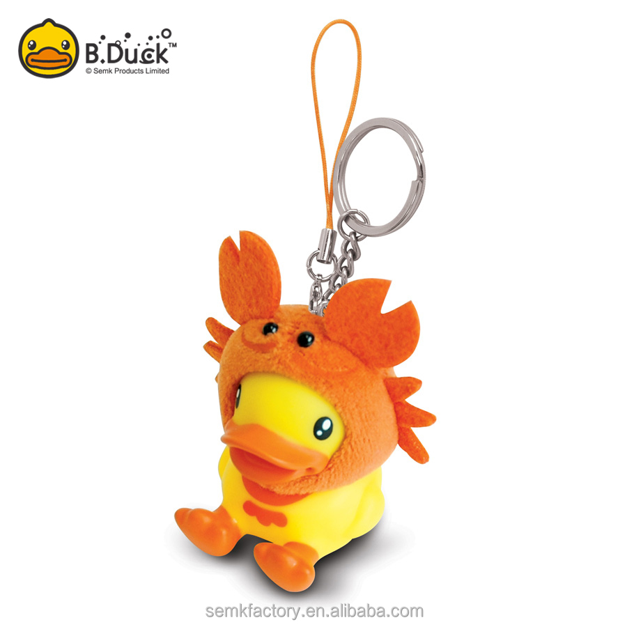 Nice looking beautiful pvc animal shaped lobster keyring keychain