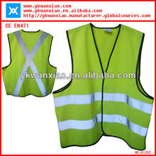 high visibility Mesh Pocket Motorcycle Reflective Safety Vest comply with EN471