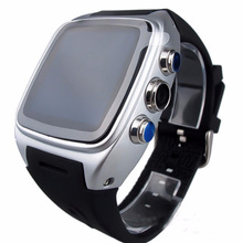 2016 Touchscreen Video Calling Watch Mobile Phone X01 Android 4.4 O.S WIFI GPS Pedometer Sport Watch Dual Core