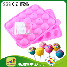 20-cavity Half Circle Lollipop Candy Silicone 3D Chocolate Mould