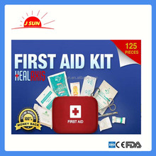 china suppliers home emergency First aid kit with 125 pieces medical content