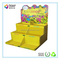 colorful carton paper counter display trays for candiies and funny products