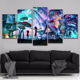 5 Panels Canvas Painting rick and morty poster Wall Art Painting Modern Home Decor Picture For Living Room
