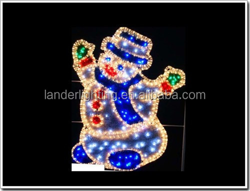 handmade attractive custom made new outdoor christmas decorations 2017 street skylines custom-made red white blue led rope light