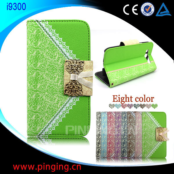 Hot Sale Handbag Phone Case Wholesale Wallet Flip Leather Cover Case for Samsung Galaxy S3 I9300