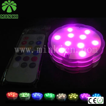 2014 MINKI Waterproof Remote Control Batteries Submersible Light Base