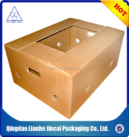 corrugated paper fruit packaging box with handle