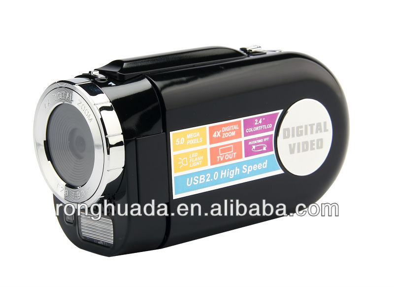 new design and cheap digital video camcorder with 5.0MP 2.4''TFT LCD DV5300