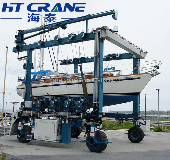 RTG traveling hydraulic cable lift vessel lifting gantry crane