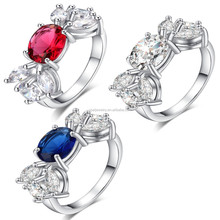White Gold Plated CZ Setting Silver Plating 925 Silver China CZ Rings
