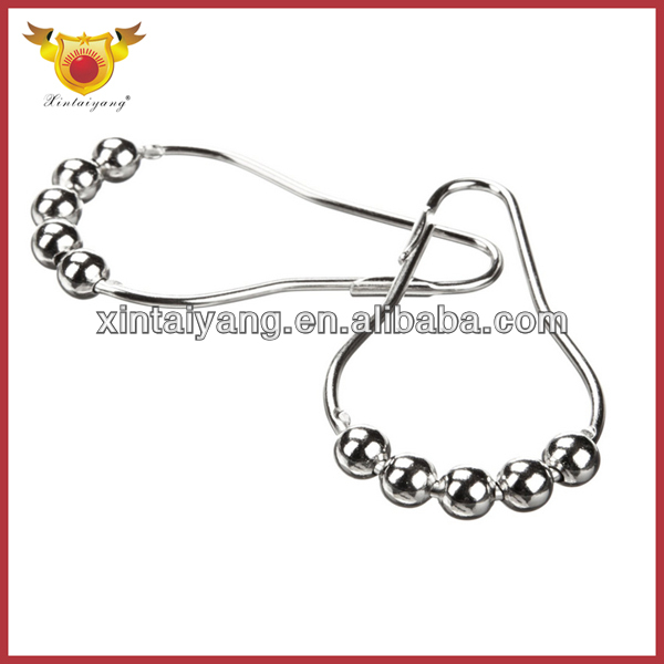 Iron Stainless Shower Bathroom Metal Curtain Hooks