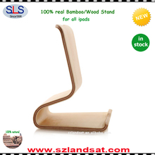 2017 new natural bamboo wood tablet stand holder for ipad mini pro air BS810