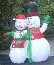 Shipped Order inflatable Christmas snowman in good quality