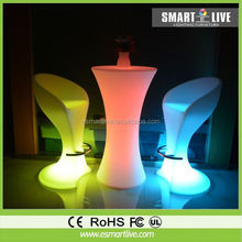 led glowing bar counter light up bar table bent and round bar counter