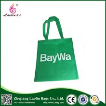 Top selling OEM green color tote eco friendly reusable non woven shopping bags