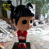Hand carving Restaurant Painting decoration sculpture cartoon resin character statues