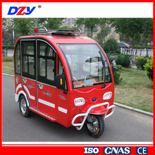 Solar power cargo tricycle with cabin