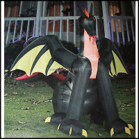 NB-HW2026 Giant inflatbale halloween dragon for yard decoration