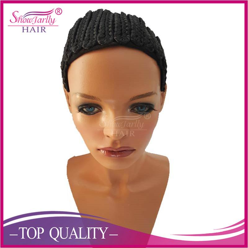 Hot sale cornrow wig for braid synthetic hair wig caps for making braids adjustable wig cap