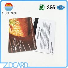Customized design pvc card with barcode magnetic stripe