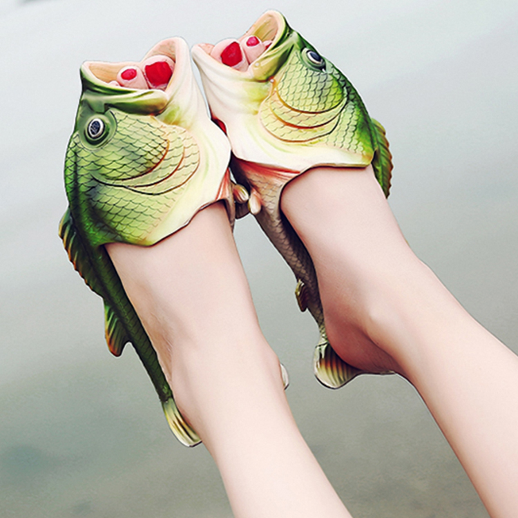 hot sale PVC fish shape slippers for women