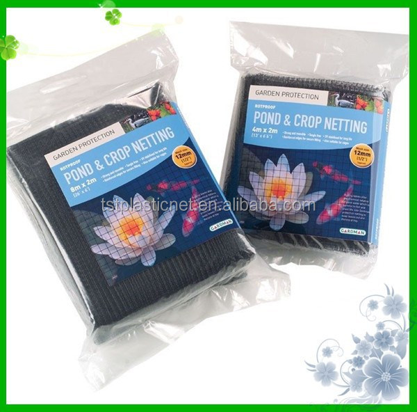 Black Garden Pond Netting Long Life Extra Strong Safety Cover Mesh Net