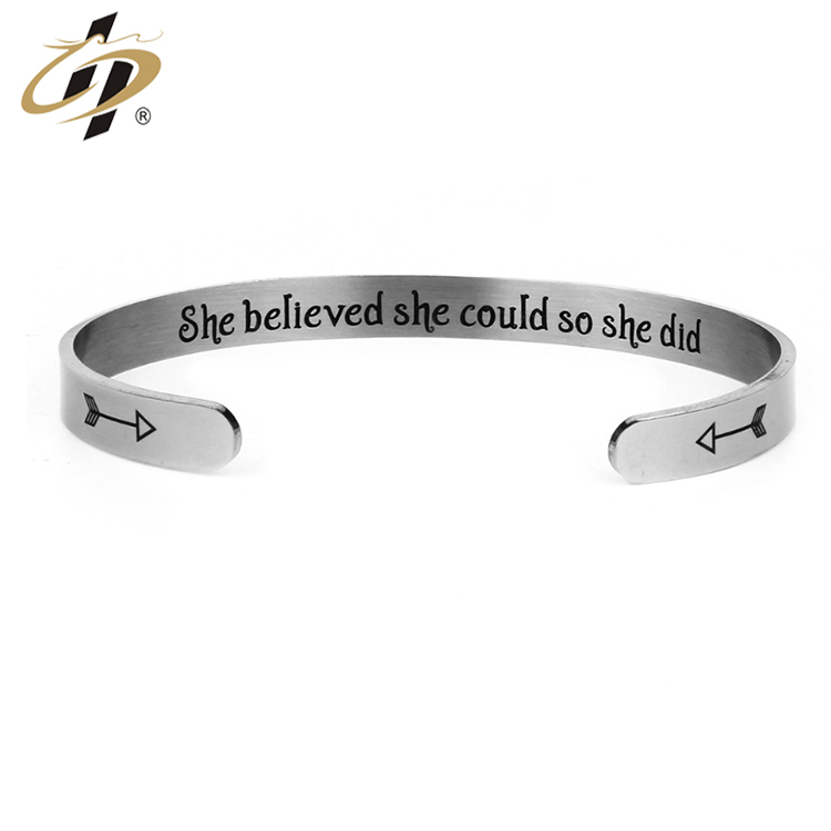 Shuanghua wholesale gifts stainless steel metal bracelet women,silver bracelets