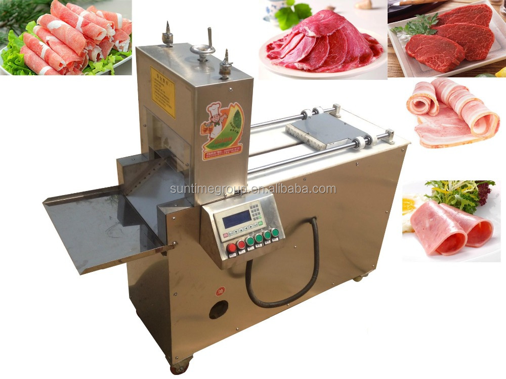 Wholesale factory price stainless steel meat slicer/ pork/beef/mutton/bacon cutting machine