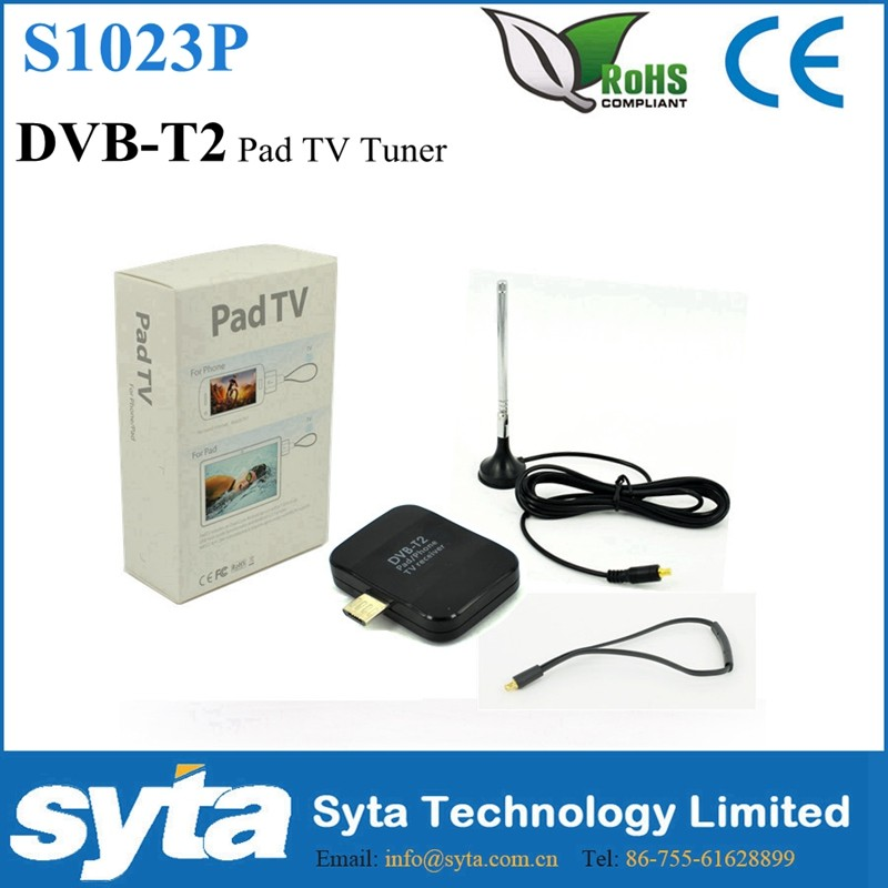 2016 Hottest Pad TV DVB-T2 USB Dongle Mobile TV Decoder for Android Phone S1023P