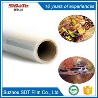 Chinese manufacturer 100 micron inkjet PVC/PET transparent shrink clear printing film for printer