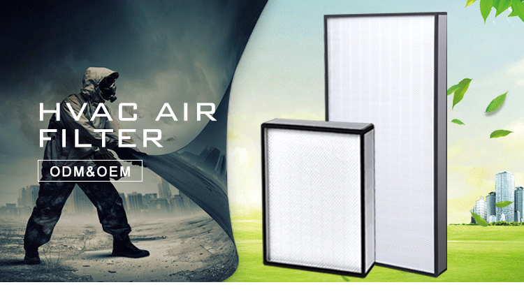 Large air volume  V or W type combination filter h10 h14 sub-high high efficiency air filter