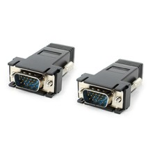 Wholesale VGA 15pin male to RJ45 8P8C female adapter