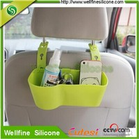 Useful Car inside silicone storage box with hang style for back of chair