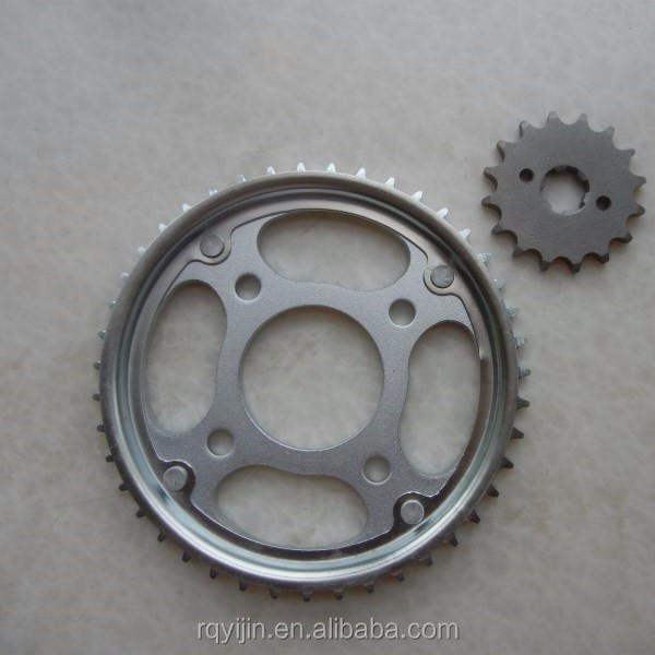 motorcycle transmission system sprocket and chain 44T 43T 14T 16T