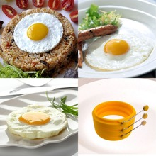 Silicone Fried Egg Ring with Handle, Silicone Fried Egg Forms