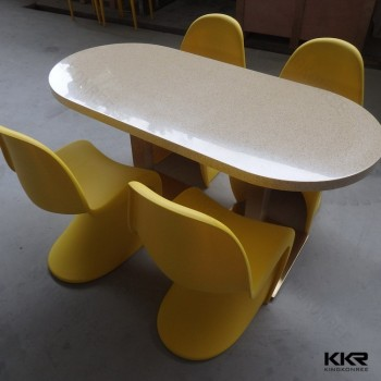 kitchen furniture table solid surface fast food dining table