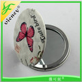 Easy to carry pocket mirror promotion cheap custom PU metal type compact mirror