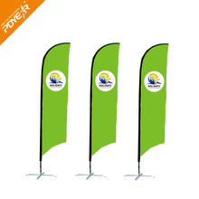 Custom advertising feather flutter bow bali beach flags