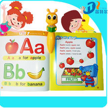 Kids English talking pen touch reading pen DC009 with English I Like Books