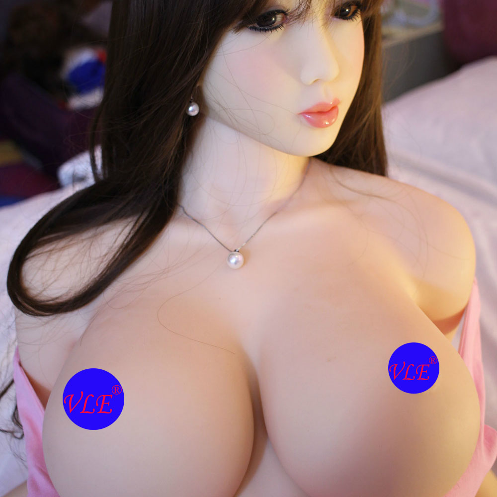 VLE 158cm Realistic Big Breast Sex Toy Rubber Silicone Sex Doll For Men