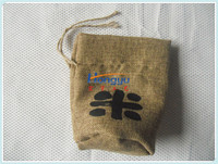 Direct manufacture widely used drawstring jute bags for rice packaging